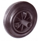 STAR ROLLEN -BLACK RUBBER WASTE BIN WHEEL 8